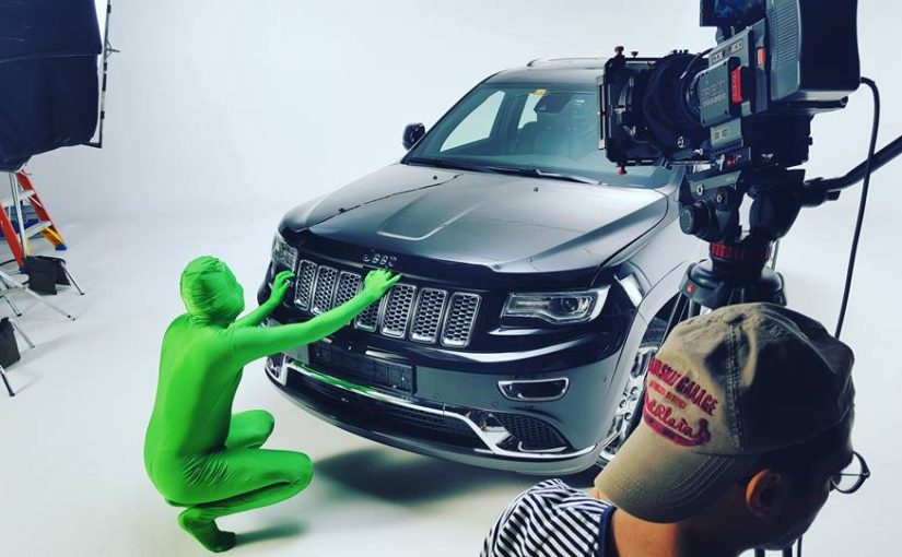 Zooxel filming some morphsuits for Jeep Oman.